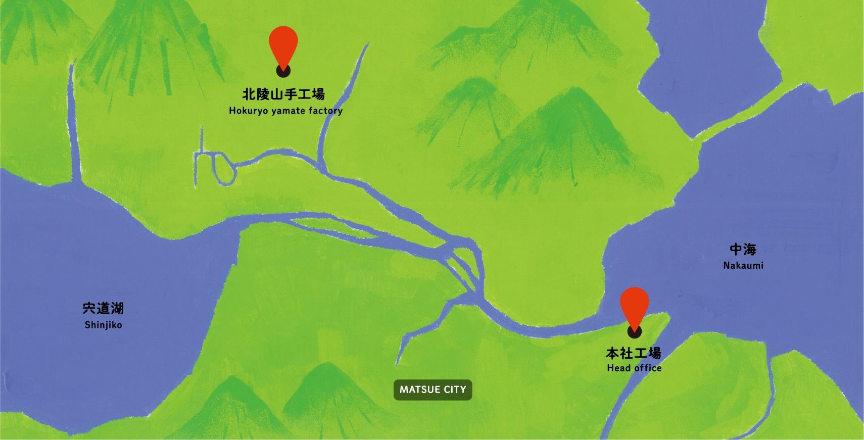 松江市の地図